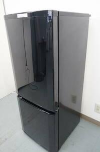 【冷蔵庫 2ドア】MITSUBISHI/三菱 2018年 冷蔵冷凍庫 MR-P15C-B 146L《 T2384 》『仙台近郊 配送可』