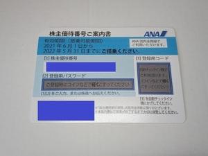 【即決可】ANA株主優待券 全日空 1枚(入金確認後に通知、2022年05月31日搭乗分まで有効)
