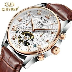 トゥールビヨン 本革ベルト カレンダー 夜光 機械式自動巻 43mm 曜日表示 防水 高級男性腕時計 メンズウォッチ 紳士◇