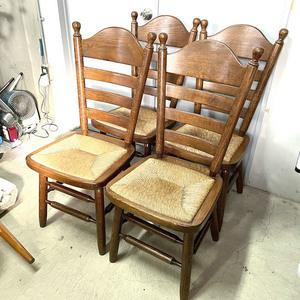 アンティークチェア 4脚セット ダイニングチェア ラタン 椅子 アンティーク家具