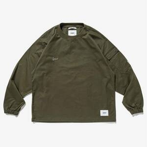 WTAPS 2021 2nd SMOCK LS COTTON,TWILL M MEDIUM 長袖Tシャツ 日本製 made in JAPAN