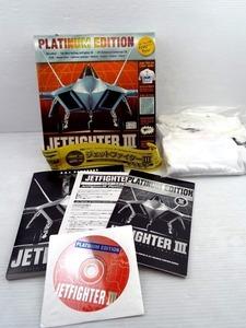 ♪Windows用ソフト 【ジェットファイターⅢ プラチナ】英語版 Tシャツ付き♪中古品