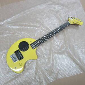 ⑦【詳細不明★ギター】フェルナンデス ZO-3 FERNANDES エレキギター ぞうさん 現状品 黄色 イエロー ジャンク 激安1円スタート