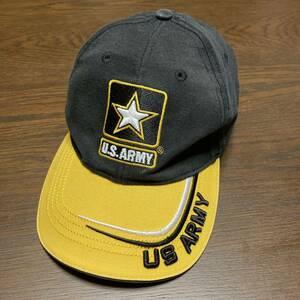 キャップ帽子 US ARMY ロゴ刺繍ベースボールキャップ コットン100% 中古品 アジャスター刺繍   米軍ベース内売店で販売 野球 即決