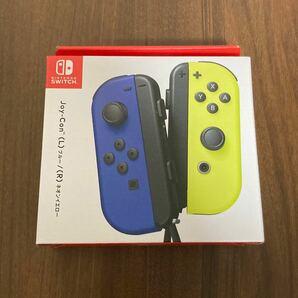 nintendo switch コントローラー ジョイコン joy con ブルー ネオンイエロー 新品 店舗印なし