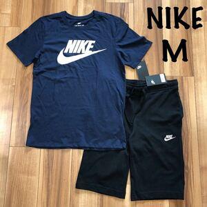 M ナイキ NIKE 半袖 Tシャツ ハーフパンツ セットアップ 短パン スウェット パンツ 上下 メンズ