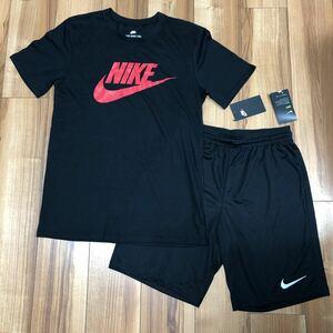 ナイキ NIKE メンズ M 半袖 Tシャツ ハーフパンツ セットアップ 短パン スウェット パンツ 上下 ランニング トレーニング