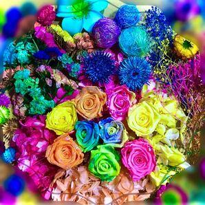( kk 大箱 ) 加工 プリザーブド花材 ハーバリウム 薔薇 ソーラーフラワー