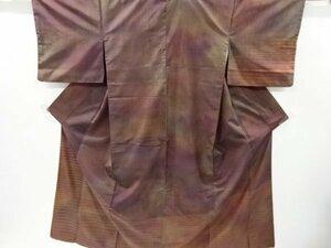 宗sou 横段模様織出暈し手織り紬訪問着