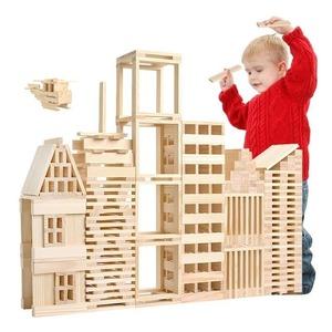 おもちゃ 木製 ブロック100個 知育 玩具 木 板 想像力 積み木 組み立て 頭の体操 超大作 自由自在 誕生日 プレゼントYWQ1837
