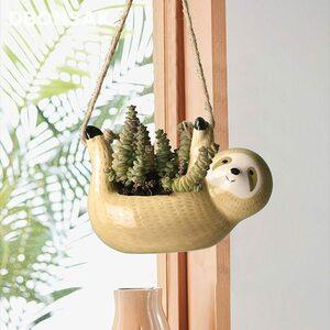 吊り下げポット 植木鉢 プランター 鉢植え 吊るし 壁掛け 園芸用品 かわいい 動物 家庭菜園 ベランダ YLH824
