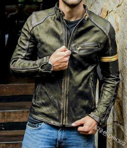 新入荷オシャレレザージャケット メンズ ライダースジャケット 革ジャンバイクジャケット ジャンパー ブルゾン 皮革ジャケット S~5XL