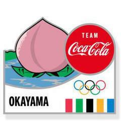 東京オリンピック コカ・コーラ 都道府県 ピンバッジ 岡山県 コカコーラ
