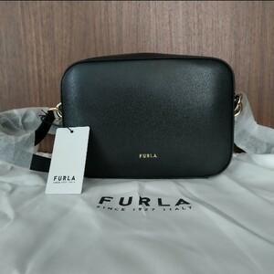 【再入荷】FURLA ブロック NERO ブラック ショルダーバッグ シンプルかわいい オールシーズン 正規品 新品未使用