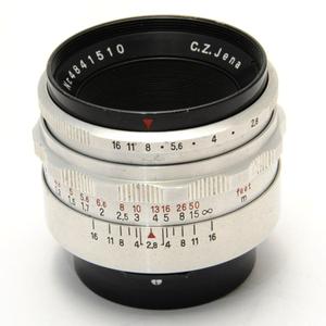 【中古品】現状渡し 動作未確認 Carl Zeiss Jena Tessar 50mm F2.8 テッサー カールツァイス Praktina プラクチナマウント