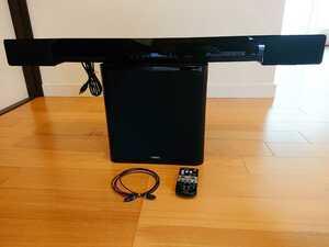 【美品】YAMAHA ヤマハ 2014年製 フロントサラウンドシステム YAS-203/NS-WSW41 リモコン付き スピーカー ウーハー ホームシアター