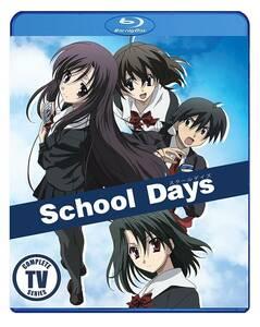 【送料込】スクールデイズ 全12話 + OVA (北米版 ブルーレイ) School Days blu-ray BD ①