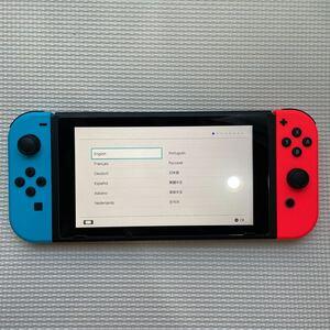 送料無料!! 1円スタート (美品) 新型 任天堂 スイッチ Nintendo Switch 本体 動作確認済 ケース付き
