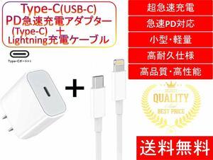 iPhone ライトニングケーブル&コンセントセット おすすめ 充電 1m Type-Cケーブル タイプC 急速充電 安い