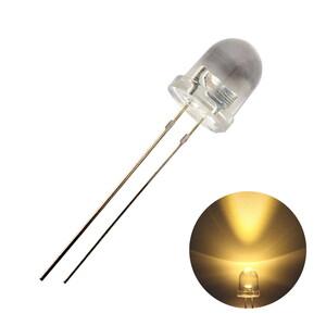 1703(50個) LED 砲弾型 8mm (クリアレンズ) 電球色 14000~16000mcd 3000~3200K