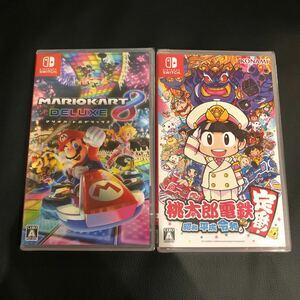 新品未開封 ソフト2本セット 桃太郎電鉄 マリオカート8デラックス Nintendo Switch