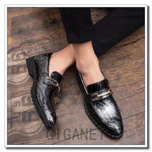 ビジネスシューズ紳士靴インヒールメンズ ローファーメンズビジネスシューズタッセル結婚式春夏秋紳士靴トンガリエナメルカジュアル