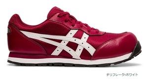アシックス 安全靴 ウィンジョブR CP201 FCP201-600 サイズ (25.5cm) セフティーシューズ チリフレーク×ホワイト asics