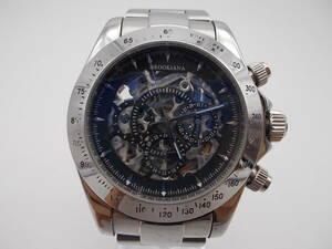 ◎BROOKIANA ブルッキアーナ 男性用腕時計 自動巻き BA1648 裏スケ ジャンク出品です。 管091632073