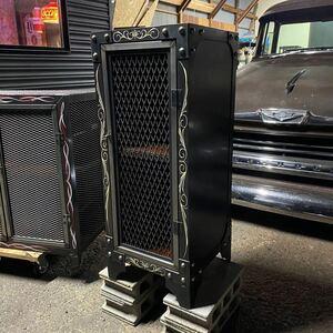 一点物! ガレージインテリア ピンストライプ アメリカン雑貨 収納棚 飾り棚 シェルフ 棚 アイアン家具 ハンドメイド 店舗什器