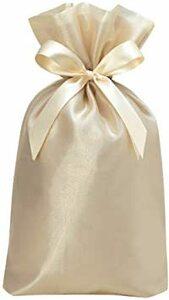 シャンパンゴールド ノーブル 包む 巾着 Lサイズ シャンパンゴールド L ラッピング袋 T-2845-L