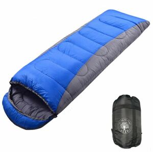 LLAP 寝袋 封筒型 1.3KG 210T防水シュラフ コンパクト軽量 保温 足伸ばし可能 アウトドア キャンプ 登山 車中泊