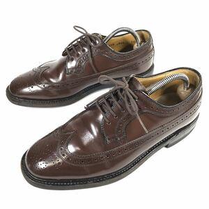 【リーガル】本物 REGAL 靴 24cm 茶 ビジネスシューズ 外羽根式 本革 レザー 男性用 メンズ 日本製 24 EE