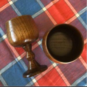木製 ワイングラス 2個セット
