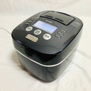 高級品■動作品■ タイガー 炊飯器 土鍋圧力IH 「炊きたて」 5.5合 ブラック JKX-V100-K