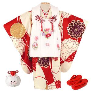 [京の舞姿]七五三女の子3歳着物8点セットkgm05