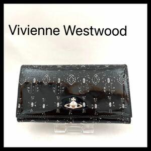 ヴィヴィアンウエストウッド 長財布 ブランド財布 ヴィヴィアン Vivienne Westwood ブラック エナメル 匿名発送