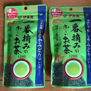 伊藤園 一番摘みのおーいお茶 1200 かなやみどりブレンド 緑茶 100g 2袋