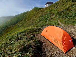 中古 finetrack カミナモノポール フットプリント付き 一人用 山岳テント 軽量