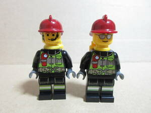 LEGO★W93 ミニフィグセット 同梱可能 レゴ 消防士 警察 泥棒 働く人 作業員 工事 シティ タウン