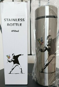asoko バンクシー ステンレスタンブラー L ステンレスボトル 450ml