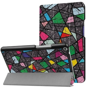 Huawei Mediapad T3 8.0 タブレット専用スタンド機能付きケース 三つ折 軽量型 薄型 高品質(2017モデル)PUレザーケース バラ窓