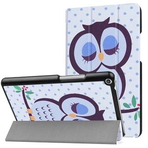 Huawei Mediapad T3 8.0 タブレット専用スタンド機能付きケース 三つ折 軽量型 薄型 高品質(2017モデル)PUレザーケース フクロウ