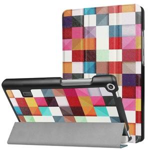MediaPad T3 7.0タブレット専用 マグネット開閉式 スタンド機能付き 三つ折カラフルカバー 薄型 軽量型 高品質PUレザーケース 正方形