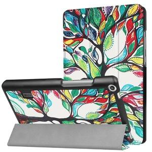 MediaPad T3 7.0タブレット専用 マグネット開閉式 スタンド機能付き 三つ折カラフルカバー 薄型 軽量型 高品質PUレザーケース 木
