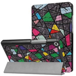MediaPad T3 7.0タブレット専用 マグネット開閉式 スタンド機能付き 三つ折カラフルカバー 薄型 軽量型 高品質PUレザーケース バラ窓