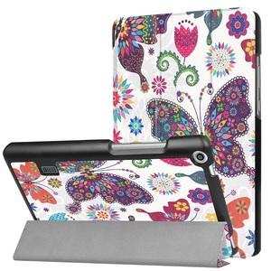 MediaPad T3 7.0タブレット専用 マグネット開閉式 スタンド機能付き 三つ折カラフルカバー 薄型 軽量型 高品質PUレザーケース 蝶