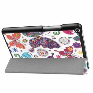 Huawei Mediapad T3 8.0 タブレット専用スタンド機能付きケース 三つ折 軽量型 薄型 高品質(2017モデル)PUレザーケース 蝶