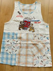 可愛いキャラクーディズニー刺繍とプリント保育士エプロンエプロン肩ずれが気にならない人気のランニング型。