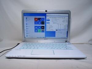 SONY VAIO SVE14A28CJW Core i5 3210M 2.5GHz 4GB 750GB 14インチ ブルーレイ Win10 64bit Office USB3.0 Wi-Fi HDMI [80096]