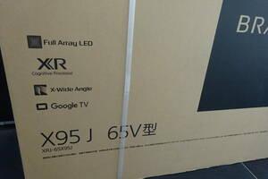 新品 保証付きソニー SONY XRJ-65X95J BRAVIA ブラビア 65V型 地上・BS・110度CSデジタル 液晶テレビ 4K対応